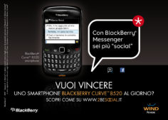 BlackBerry 2BESOCIAL – concorso a premi via web e socialmarketing